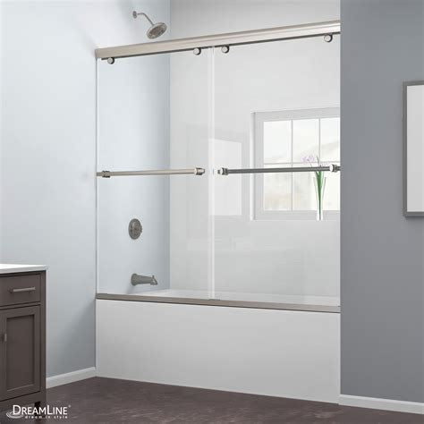 Dreamline Charisma 56 To 60 Quot Frameless Bypass Sliding Tub Bypass Shower Doors Frameless