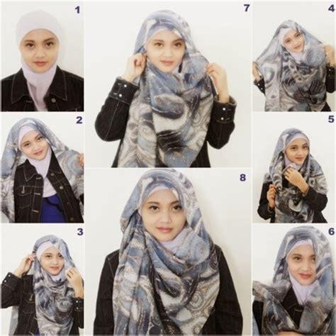 gambar cara memakai jilbab modis untuk kuliah