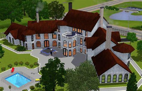 sims  manoir blanc white manor architecture maison