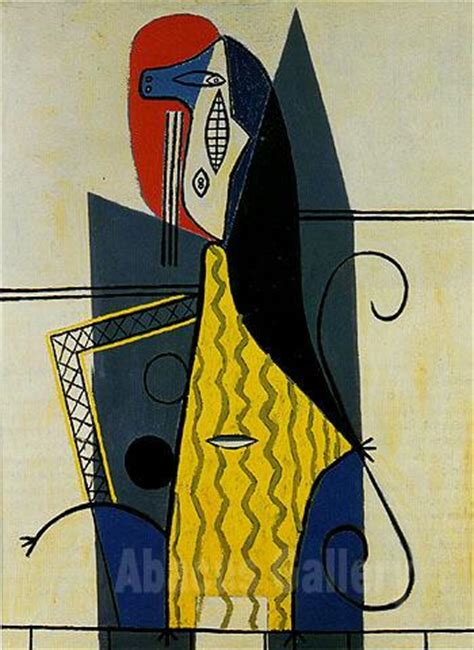 picasso woman in an armchair pablo picasso woman in an armchair 1927