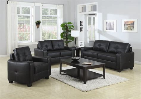 Living Rooms With Black Leather Sofas Leather Sofa Set Sofa Sets