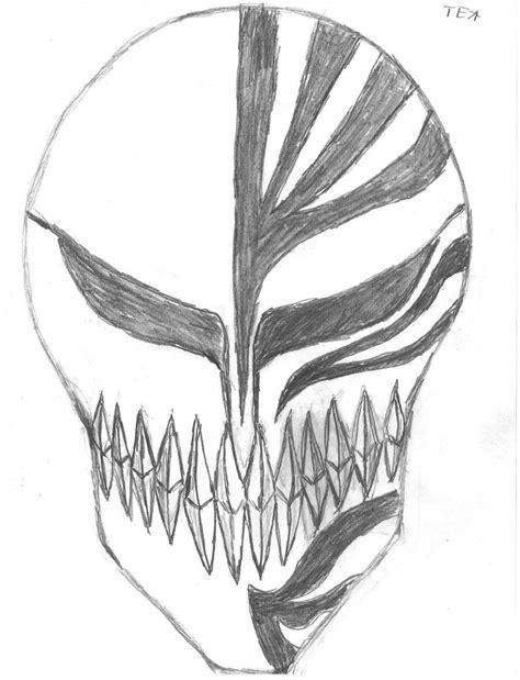 ichigos hollow mask  theenvisionartist  deviantart