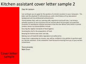 Kitchen Worker Cover Letter by Kitchen Assistant Cover Letter