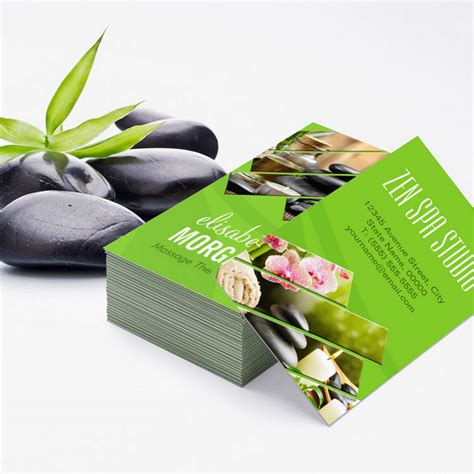 Massage Green Spa Gift Card - 300 creative and inspiring business card designs bizcardstudio