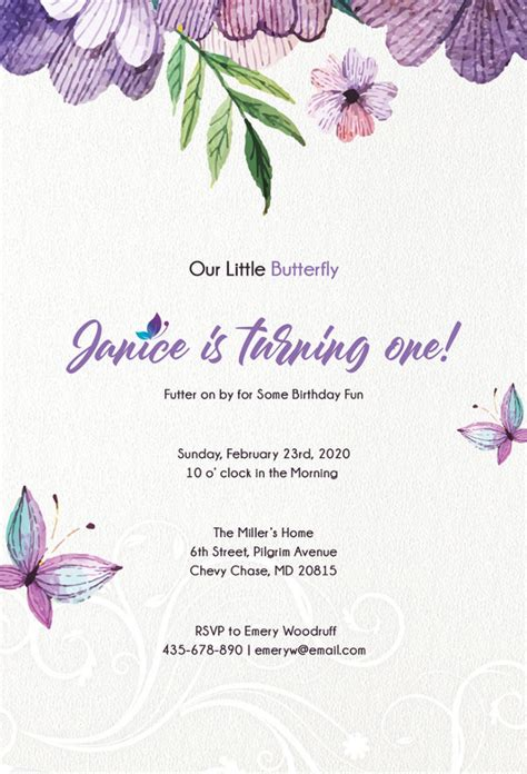 butterfly invitations  printable psd ai eps format   premium templates