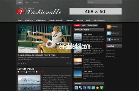 themes blogger black responsive fashion magazine wordpress theme