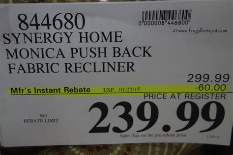costco deal synergy home furnishings recliner