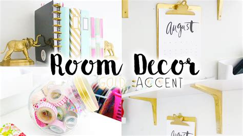 Cute Bedroom Decorating Ideas by Diy Room Decor Amp Organization Gold Accent Youtube