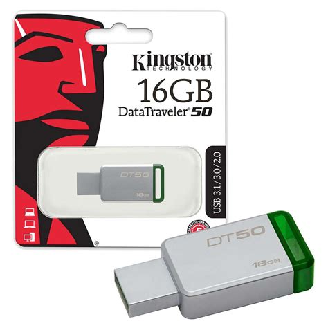 Usb Kingston kingston datatraveler dt50 usb 3 0 flash drive 16gb 7dayshop