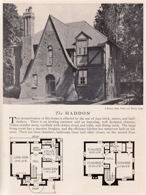 Storybook Style House Plans by 1929 Home Builders Catalog Haddon House Plan American
