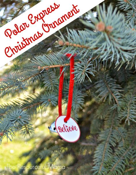 how to make a polar express paper christmas tree polar express ornament printable tags ornaments and