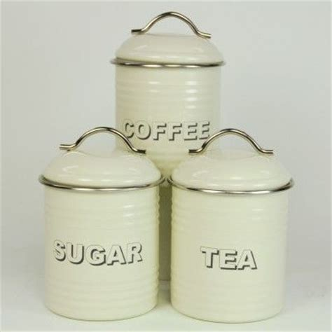 cream kitchen canisters cream tea coffee sugar canisters perfect kitchen