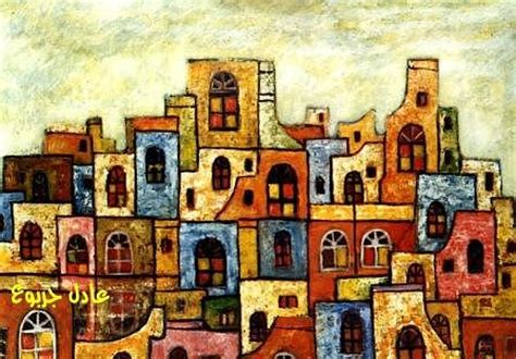 ancient arabic city 3 painting by adel jarbou