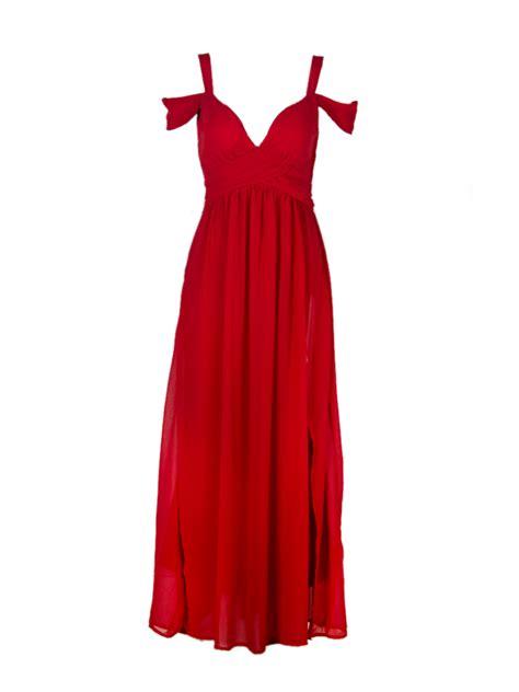 Cold Shoulder Maxi Dress cold shoulder split maxi prom dress in choies