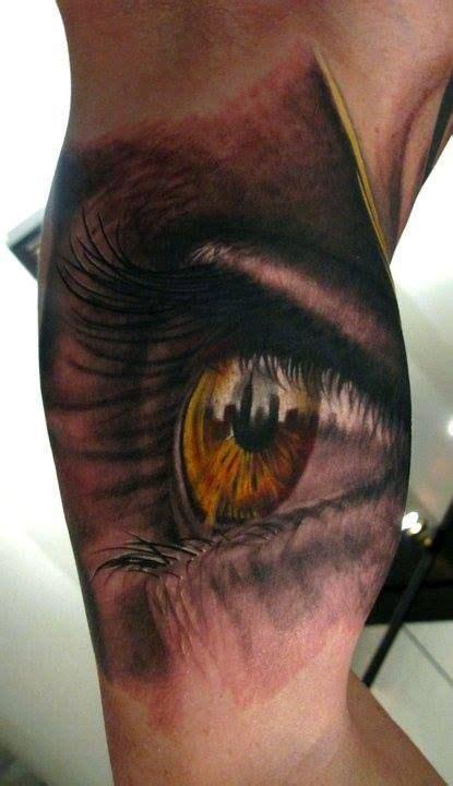 eye tattoo realism awesome realistic eye tattoo tattoos pinterest