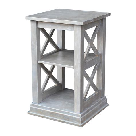grey accent table hton weathered grey accent table ot09 70a the home depot