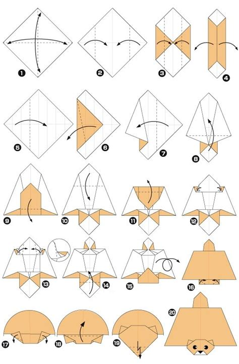 Easy Origami Squirrel - flying squirrel preschool activities