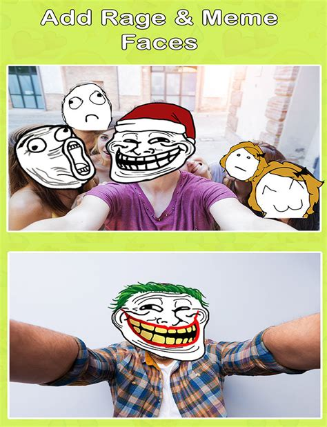 Edit Meme Comic - insta meme photo editor create funny meme rage with troll face stickers for snapchat app