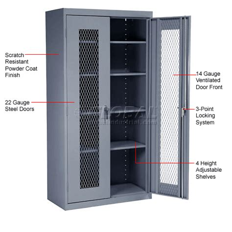 metal storage cabinets with doors cabinets ventilated cabinets sandusky expanded metal door storage cabinet ea4m462472