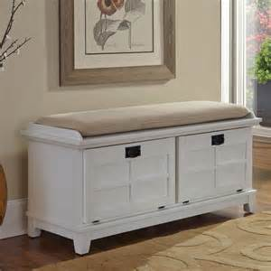 cushioned bench with storage 143 home storage and organization ideas room by room