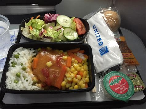 united international economy free and wine upgraded meals in united airlines