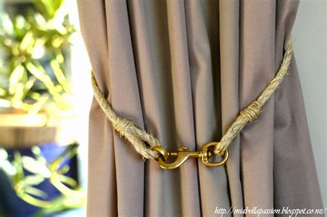 curtain tie backs diy mia bella passions diy rope and brass curtain tie backs