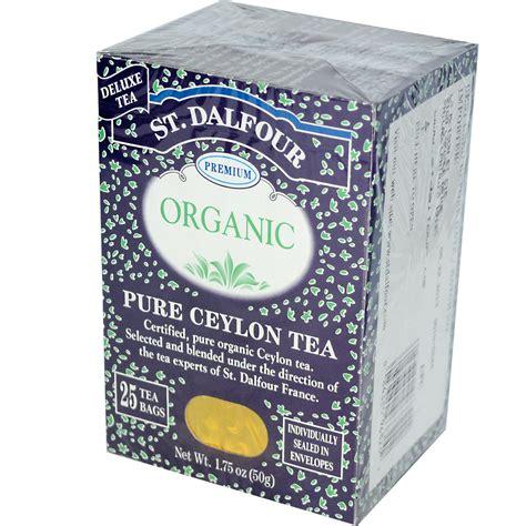 st dalfour organic pure ceylon tea 25 tea bags 1 75 oz 50 g iherb com