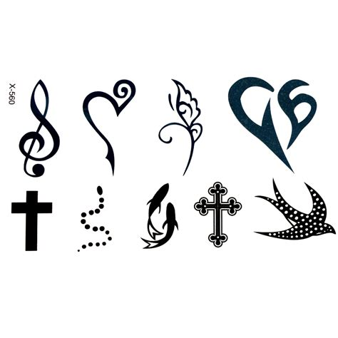 fishing waterproof temporary tattoo sticker cross henna