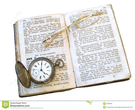 clocks a novel books book clock and glasses stock photo image 5590620