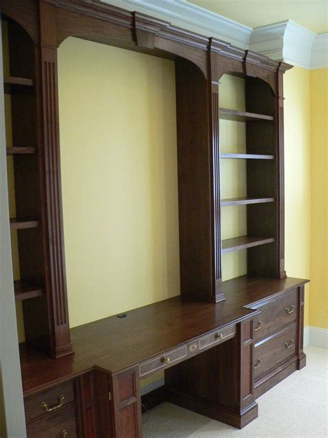 custom bathroom wall cabinets hand crafted home office wall unit by meisterbuilders inc