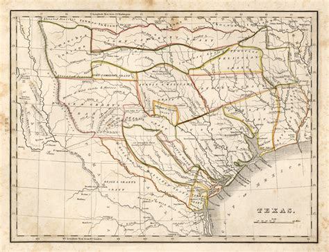texas land grants map empresario