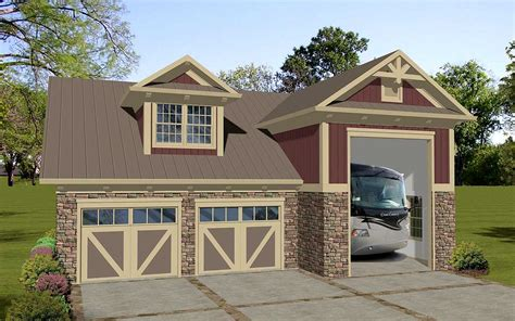 House Plans With Garage Apartment carriage house apartment with rv garage 20128ga