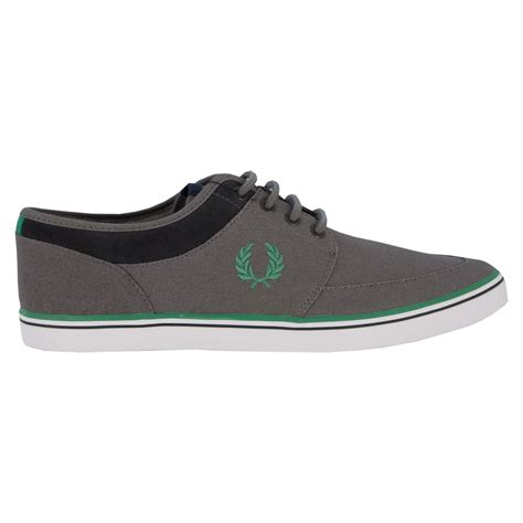 fred perry sneakers fred perry stratford canvas sneakers mid grey