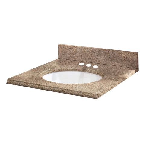 25 X 19 Granite Vanity Top pegasus 25 inch w x 19 inch d granite vanity top in beige