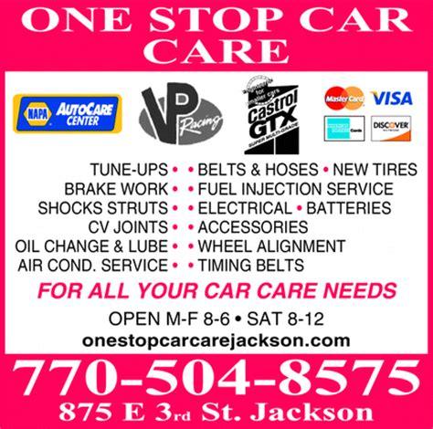 stop car care center jackson ga  yellowbook