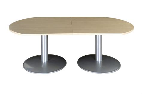 Buro Table by Buro D End Tables Metal Bases 2000mm