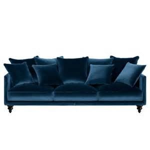 canap 233 velour bleu p 233 trole the d 233 co