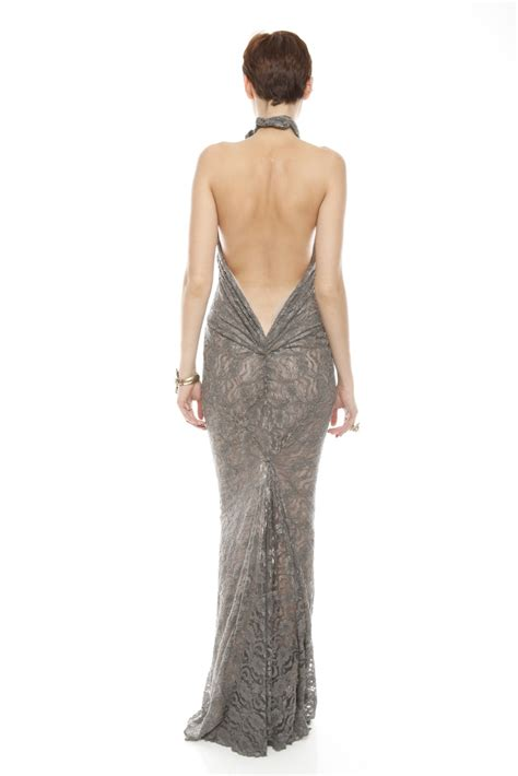 Sale Bj 3690 Gray Dress castillo backless gown from east hton