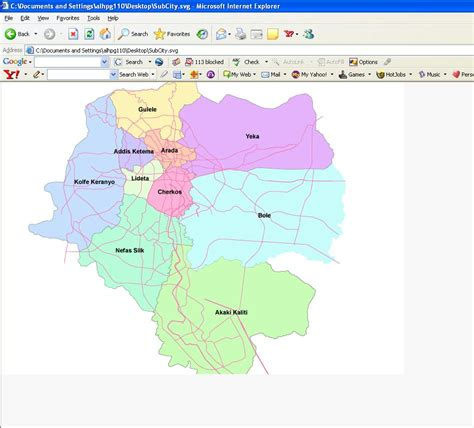 map of addis ababa city addis ababa map