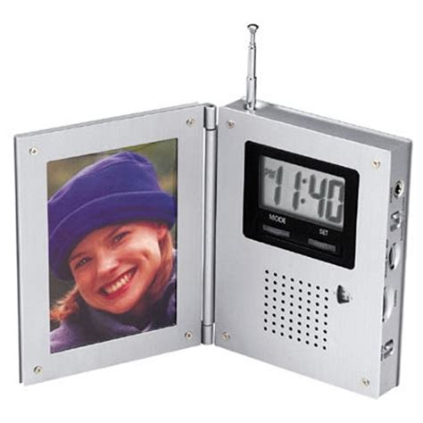 Alarm Clock With Talking Picture Frame by Personalized Am Fm Radio Alarm Clock With Picture Frame Usimprints