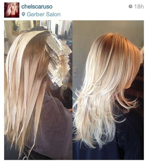 lowlight placement in bleached blond hair pinterest le catalogue d id 233 es