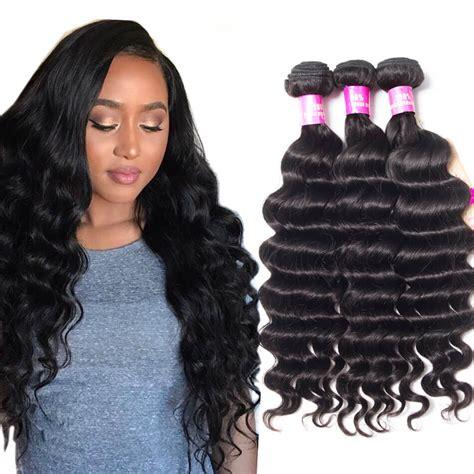 loose deep wavy hair photo brazilian virgin hair loose deep wave 3 bundles tinashehair
