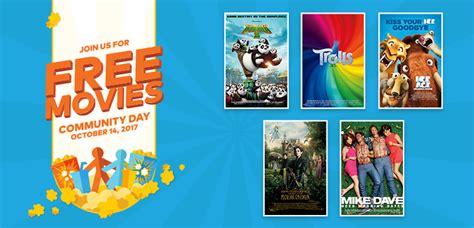 cineplex free movie day 社区活动 10月14日 10月20日 免费电影日 搞怪科学探索 beacon艺术展 金色田野等 beacon