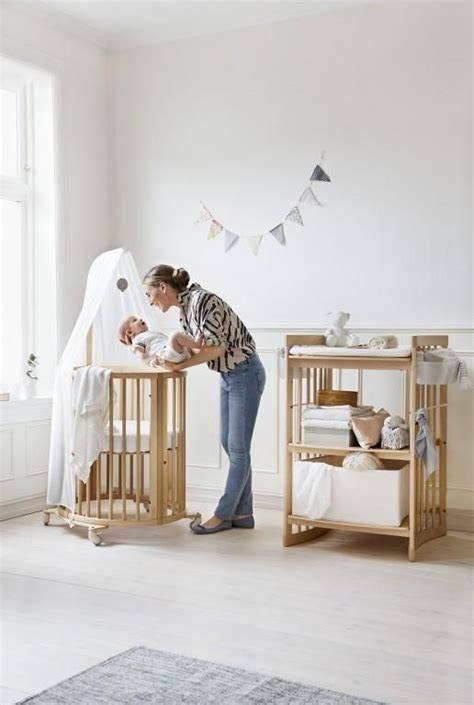 Stokke Sleepi Mini Crib A Stunning Stokke Nursery Space Stokke Sleepi Mini Crib And Stokke Care Changing Table In