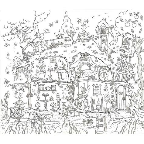 adult coloring page coloring home fairy houses coloring pages google search printables