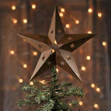 rustic spring star tree topper christmas trees and
