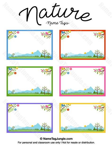 Free Classroom Picture Card Templates Printable by Pin By Muse Printables On Name Tags At Nametagjungle
