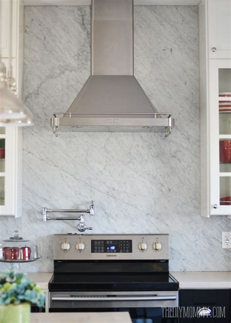 carrara marble kitchen backsplash a marble panel backsplash for our diy kitchen the diy mommy
