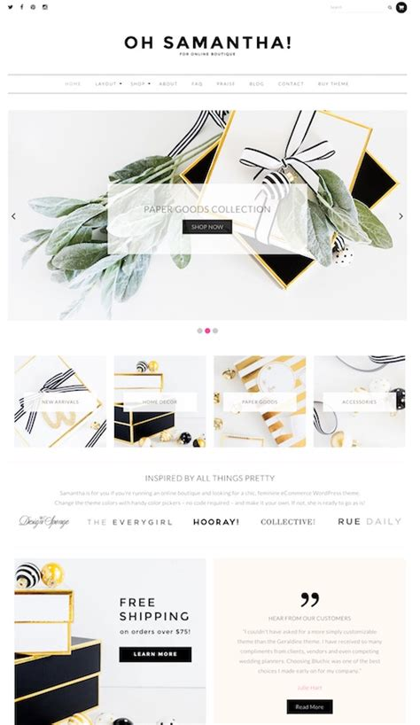 wordpress woocommerce layout 90 beautiful feminine wordpress themes for women 2018