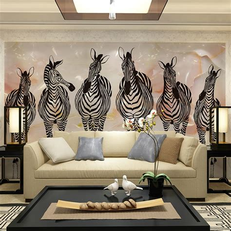 zebra wall murals popular zebra print wall murals buy cheap zebra print wall
